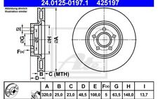 ATE Juego de 2 discos freno Antes 320mm ventilado para VW GOLF 24.0125-0197.1