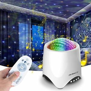 STARRY NIGHT OCEAN WAVE PROJECTOR LAMP DISCO BALL STAGE LIGHT BLUETOOTH SPEAKER