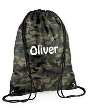 Personalised camouflage print swimming bag, PE bag,gym bag, any name, boys/girls
