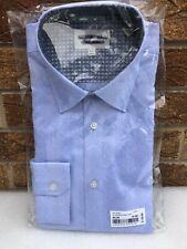 """TED BAKER Men's Endurance Shirt BNWT SAMPLE Blue Patterned 15.5"""" Collar"""