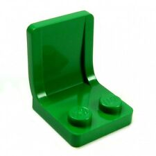 2 x Lego System Sitze grün 2x2 Eisenbahn Flugzeug Auto Stühle mit Lehne 4079