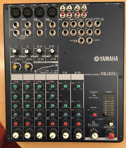 Yamaha Mixing Desk MG102c with original power supply - 4 stereo 2 mono inputs