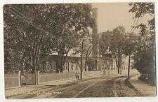 RPPC Paper Mill, HYDE PARK Boston MA Vintage Real Photo Massachusetts Postcard