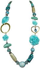 Markenlose Modeschmuck-Halsketten & -Anhänger aus Kristall mit Türkis-Hauptstein
