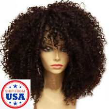 Women Lady Natural Short Curly Wavy Wig Black Ladies Synthetic Hair Costume