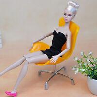 1/6 Puppenhaus Miniatur Möbel Stuhl Modell für Puppenfiguren Dekoration