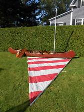 1920 Old Town Sailing Canoe - Wood canvas 18ft long Otca - Has mast, rudder, etc