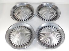 "Set 4 Vintage 15"" Turbine Cone Spike Hub Caps Hot Rat Rod Custom Car Wheel Cover"