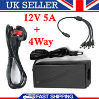 AC DC 12V 5A POWER SUPPLY ADAPTER CHARGER FOR CAMERA / LED STRIP LIGHT CCTV