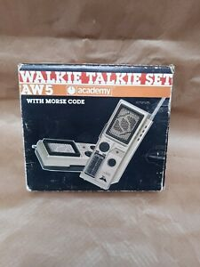 Vintage Academy AW5 Walkie Talkie Set With Morse Code Boxed VGC