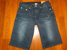 NWT Boy's TRUE RELIGION Short Single End Cut-Off Harley Wash Shorts..size 10