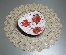 Vintage Enamel Copper Bowl Plate West Germany from 1950's