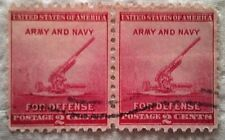 1940 Scott 900 U. S. Defense Anti Aircraft Gun two used 2 cent stamps off
