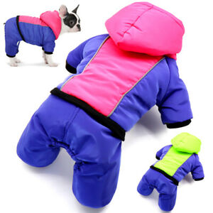Reflective Dog Jumpsuit Clothes Waterproof Winter Coat Warm Hoodie Jacket S-2XL