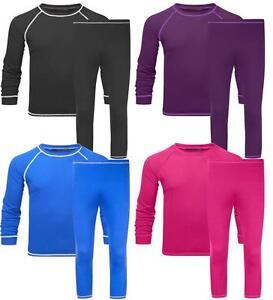 Manbi Supatherm Kids Base Layer Set Girls Boys Thermal Top and leggings