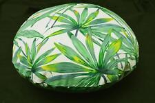 LF817n White Green leaf Cotton Canvas Round Pillow Case/Cushion Cover
