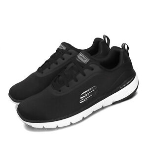 Skechers Flex Advantage 3.0-Landess Black White Men Running Shoes 52751-BLK