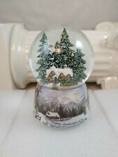 2005 Musical Snow Globe Christmas Winter Cottage - We Wish You A Merry Christmas