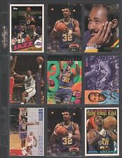KARL MALONE ~ Lot of (9) Different Basketball Cards w/ Display Sheet ~ (L311)