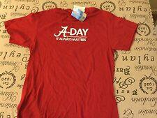 NWT Alabama Crimson Tide  2013 A-Day NCAA Football T-Shirt Red Size Lg