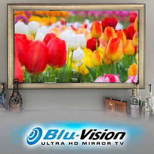"""$200 OFF! MIRROR TV 43"""" SAMSUNG Q60A SMART 4KTV LUXURIOUS SILVER/GOLD FRAME"""