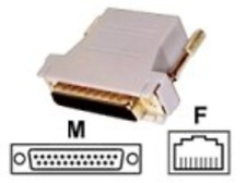 Adapter Db25M To Rj45F OFF-ACC NEW