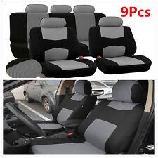 Car Seat Covers For Sedan SUV Universal 5-Seats Seat Covers Mesh Gray 9Pcs Kits