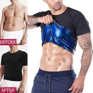 Women/Men Sweat Shaper Slimming Sports Sauna Vest T-Shirt Shapewear Weightloss
