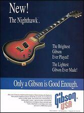 The 1993 Gibson Nighthawk Series guitar ad 8 x 11 advertisement print