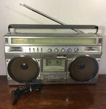 Vintage Sharp GF-8989 II Metal Am Fm Boombox Works Sw2 Sw1 Cassette Recorder