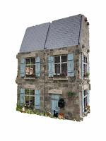 MiniMolly Dollhouse 1:12 Size Dollhouse 6 Room Kit French Farmhouse