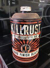 Killrust Hard Finish Black Vintage 1960's Paint Tin Can