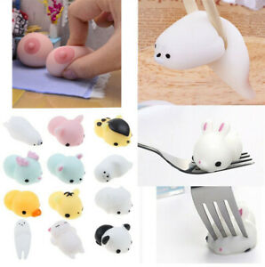 Cute Mochi Squishy Animals Squeeze Healing Fun Kids Kawaii Toy Stress Reliever