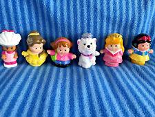 Disney Little People Set of 6 Figures Replacement Parts- EUC