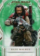 Star Wars Masterwork 2018 Green 99 Base Card 46 Baze Malbus