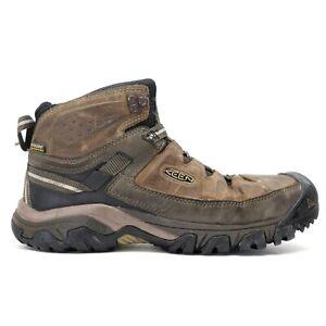 Keen Mens Brown Targhee III Waterproof Outdoor Mid Hiking Boots Size US 9 EU 42