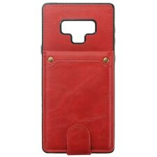 For Samsung Galaxy Note 9 Wallet Cover + Case PU Leather Flip Shockproof Red