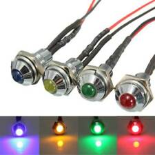1pcs 8mm Metal LED Indicator Pilot Dash Light Bulb Boat Car Red Blue Green Amber