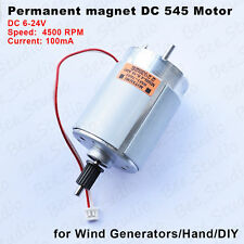 Mitsumi 545 Motor magnet dual shaft DC 12v~24v Generator Mini Wind DC Hand Motor