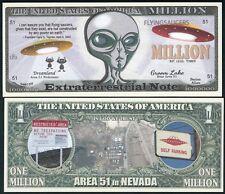 Extraterrestrial Alien and Area 51 Million Dollar Bill Funny Money Novelty Note