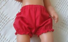 "BJB dolls clothes Red knickers pants fit 18"" baby born annabel and similar dolls"