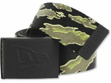 New Era Men's Rubberized Buckle Tiger Stripe Military-Style Web Belt