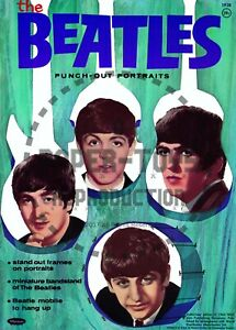 VINTAGE REPRINT - 1964 - THE BEATLES PUNCH-OUT BOOK - REPRODUCTION
