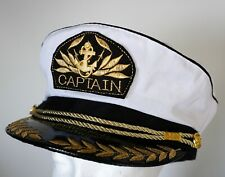 CAPTAIN HAT Unisex Captain Cap Skipper Sailor Boat Marine