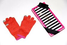 NWT Authentic Juicy Couture winter gloves in box orange rabbit wool  color