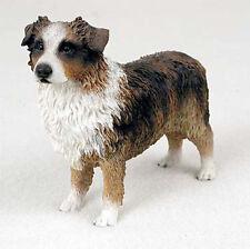 Australian Shepherd Hand Painted Collectible Dog Figurine Brown