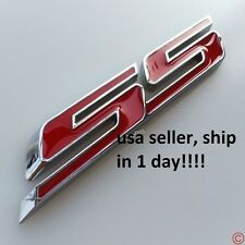 New Red chrome SS TRUNK BADGE Side Fender Emblem for Chevy IMPALA COBALT Camaro