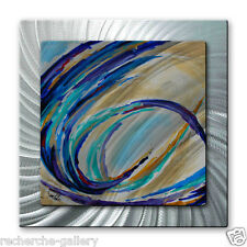 Metal Art Abstract Modern Contemporary Sculpture Painting Color in Motion #1