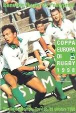 (Benetton) TREVISO V pontypridd 31 OCT 1998 programma RUGBY HEINEKEN CUP