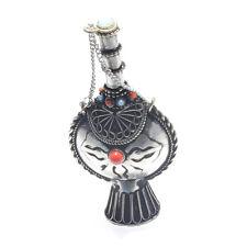 Tibetan Vintage Coin Snuff/Perfume Bottle Turquoise & Coral Setting Artisan 30A